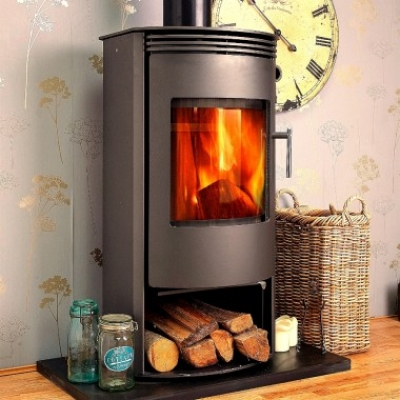 Jupiter Contemporary Modern Multi-fuel Woodburning Stove 7kw