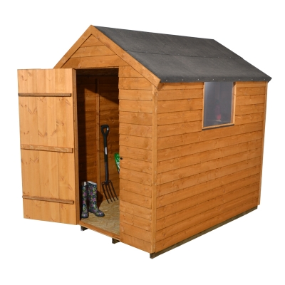 5x7 overlap apex shed single window 5x7 stove savings for Garden shed 5x7