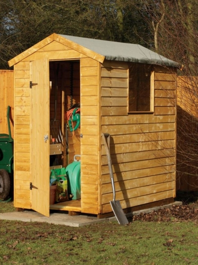 6x4 premium overlap apex shed 6x4 direct landscape for Garden shed 6x4 sale