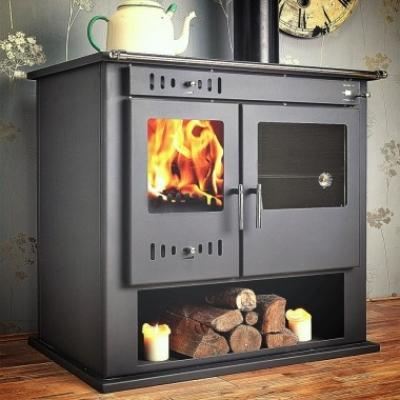 Victoria ECO Multi-Fuel Woodburning Range Cooker BOILER Stove 12kw