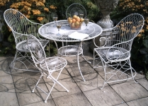 Bistro set for 4 - Pale Green