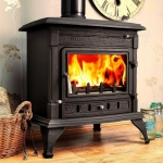 Cathedral Multi-Fuel Woodburning BOILER Stove 21kw