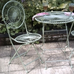 Patio Bistro Set for 2 Ivory