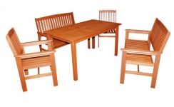 Tropicana 5 piece hardwood garden furniture set.