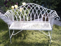 Park Scroll Bench - Cream