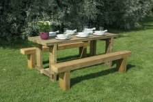 1.8m Sleeper Bench and Refectory Table Set